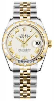 Rolex Datejust 31mm Stainless Steel and Yellow Gold 178343 White Roman Jubilee