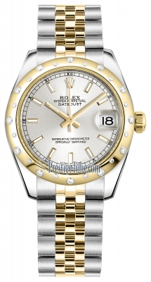 Rolex Datejust 31mm Stainless Steel and Yellow Gold 178343 Silver Index Jubilee