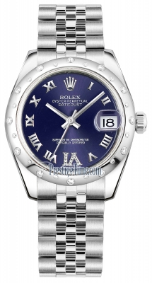 Rolex Datejust 31mm Stainless Steel 178344 Purple VI Roman Jubilee