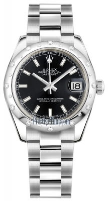 Rolex Datejust 31mm Stainless Steel 178344 Black Index Oyster