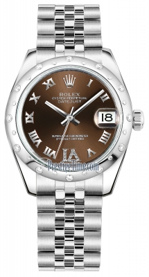 Rolex Datejust 31mm Stainless Steel 178344 Bronze VI Roman Jubilee