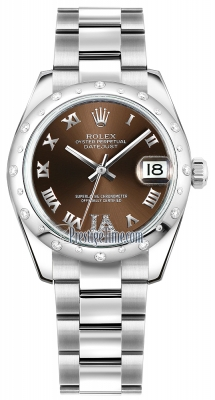 Rolex Datejust 31mm Stainless Steel 178344 Bronze VI Roman Oyster
