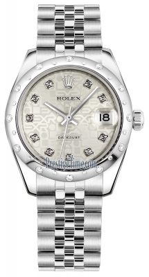 Rolex Datejust 31mm Stainless Steel 178344 Jubilee Silver Diamond Jubilee