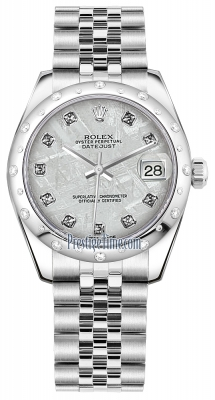 Rolex Datejust 31mm Stainless Steel 178344 Meteorite Diamond Jubilee
