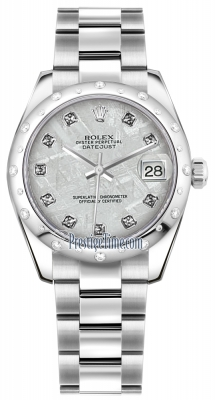 Rolex Datejust 31mm Stainless Steel 178344 Meteorite Diamond Oyster