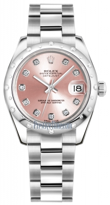 Rolex Datejust 31mm Stainless Steel 178344 Pink Diamond Oyster