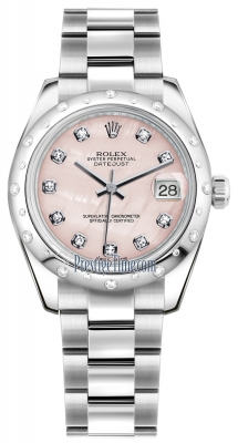 Rolex Datejust 31mm Stainless Steel 178344 Pink MOP Diamond Oyster