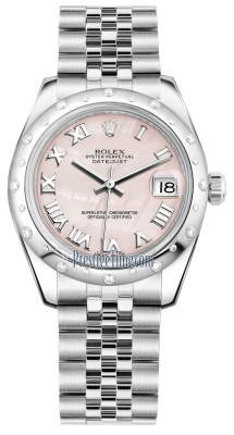 Rolex Datejust 31mm Stainless Steel 178344 Pink MOP Roman Jubilee