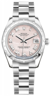 Rolex Datejust 31mm Stainless Steel 178344 Pink MOP Roman Oyster