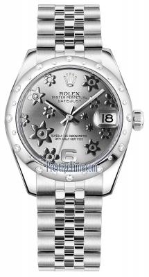Rolex Datejust 31mm Stainless Steel 178344 Rhodium Floral Jubilee