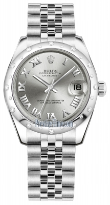 Rolex Datejust 31mm Stainless Steel 178344 Rhodium Roman Jubilee