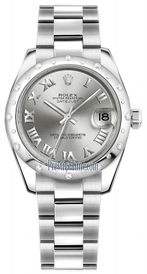 Rolex Datejust 31mm Stainless Steel 178344 Rhodium Roman Oyster