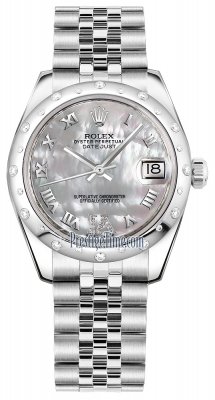 Rolex Datejust 31mm Stainless Steel 178344 White MOP VI Roman Jubilee
