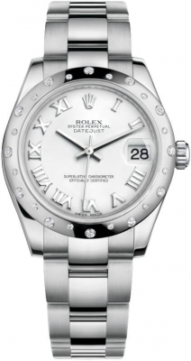 Rolex Datejust 31mm Stainless Steel 178344 White Roman Oyster