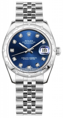 Rolex Datejust 31mm Stainless Steel 178344 Blue Diamond Jubilee