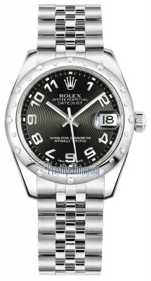 Rolex Datejust 31mm Stainless Steel 178344 Black Concentric Arabic Jubilee
