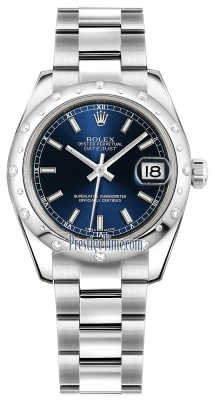 Rolex Datejust 31mm Stainless Steel 178344 Blue Index Oyster