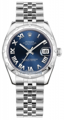Rolex Datejust 31mm Stainless Steel 178344 Blue Roman Jubilee