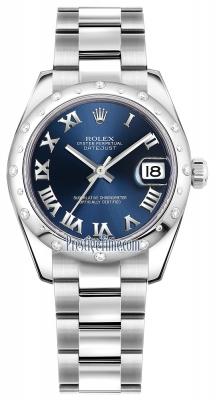 Rolex Datejust 31mm Stainless Steel 178344 Blue Roman Oyster