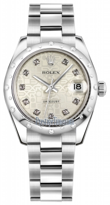 Rolex Datejust 31mm Stainless Steel 178344 Jubilee Silver Diamond Oyster
