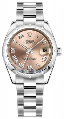 Rolex Datejust 31mm Stainless Steel 178344 Pink Roman Oyster