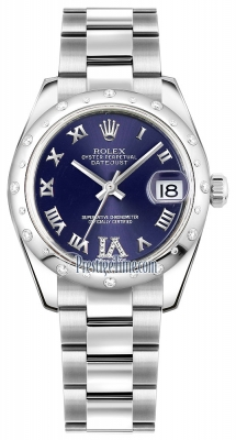 Rolex Datejust 31mm Stainless Steel 178344 Purple VI Roman Oyster