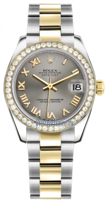Rolex Datejust 31mm Stainless Steel and Yellow Gold 178383 Steel Roman Oyster