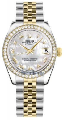 Rolex Datejust 31mm Stainless Steel and Yellow Gold 178383 White MOP Roman Jubilee