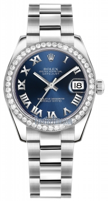 Rolex Datejust 31mm Stainless Steel 178384 Blue Roman Oyster