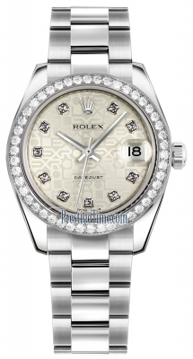 Rolex Datejust 31mm Stainless Steel 178384 Jubilee Silver Diamond Oyster