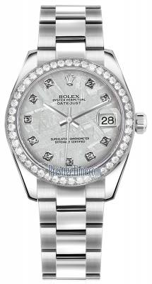 Rolex Datejust 31mm Stainless Steel 178384 Meteorite Diamond Oyster