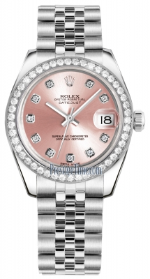 Rolex Datejust 31mm Stainless Steel 178384 Pink Diamond Jubilee