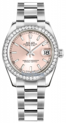 Rolex Datejust 31mm Stainless Steel 178384 Pink Index Oyster