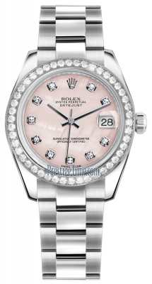 Rolex Datejust 31mm Stainless Steel 178384 Pink MOP Diamond Oyster