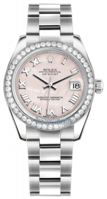 Rolex Datejust 31mm Stainless Steel 178384 Pink MOP Roman Oyster