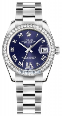 Rolex Datejust 31mm Stainless Steel 178384 Purple VI Roman Oyster