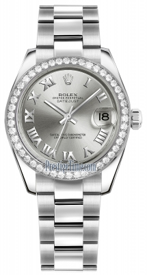 Rolex Datejust 31mm Stainless Steel 178384 Rhodium Roman Oyster
