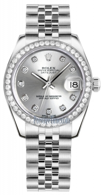 Rolex Datejust 31mm Stainless Steel 178384 Silver Diamond Jubilee