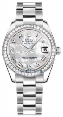 Rolex Datejust 31mm Stainless Steel 178384 White MOP Roman Oyster