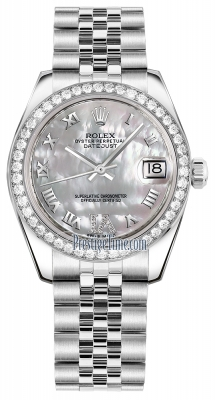 Rolex Datejust 31mm Stainless Steel 178384 White MOP VI Roman Jubilee