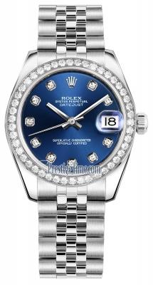 Rolex Datejust 31mm Stainless Steel 178384 Blue Diamond Jubilee