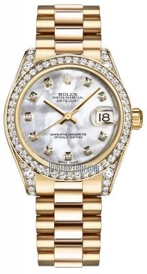 Rolex Datejust 31mm Yellow Gold 178158 MOP Diamond President