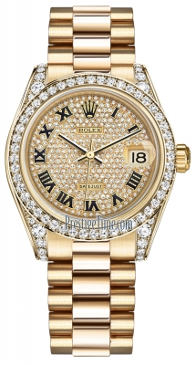 178158 Pave Diamond Black Roman President