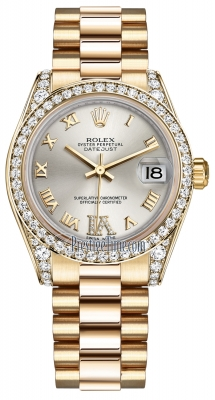 Rolex Datejust 31mm Yellow Gold 178158 Silver VI Roman President