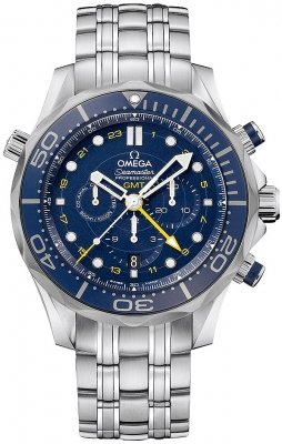 Omega Seamaster Diver 300m Co-Axial GMT Chronograph 44mm 212.30.44.52.03.001