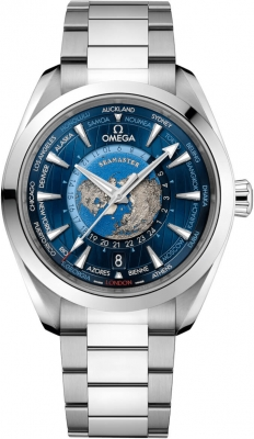 Omega Aqua Terra 150M GMT Worldtimer Co-Axial Master Chronometer 43mm 220.10.43.22.03.001