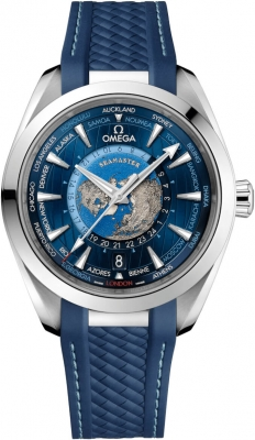 Omega Aqua Terra 150M GMT Worldtimer Co-Axial Master Chronometer 43mm 220.12.43.22.03.001