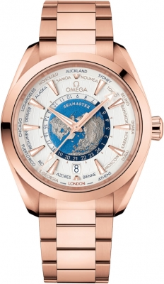 Omega Aqua Terra 150M GMT Worldtimer Co-Axial Master Chronometer 43mm 220.50.43.22.02.001