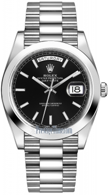 Rolex Day-Date 40mm Platinum 228206 Black Index