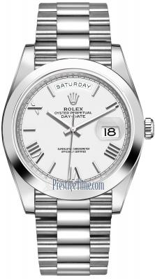 Rolex Day-Date 40mm Platinum 228206 White Roman